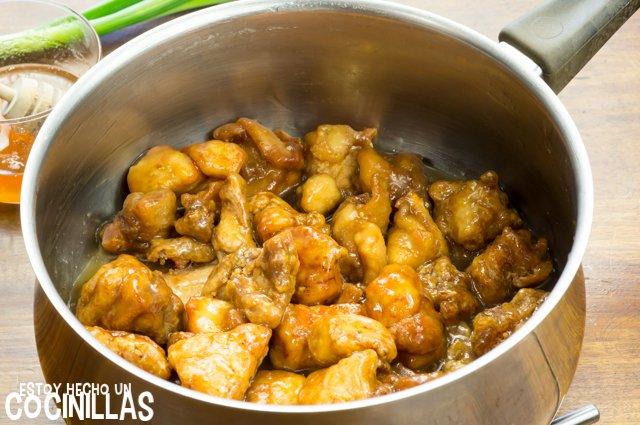 Pollo a la miel estilo chino (mezclar)