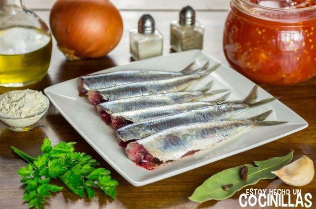 Sardinas con tomate (ingredientes)
