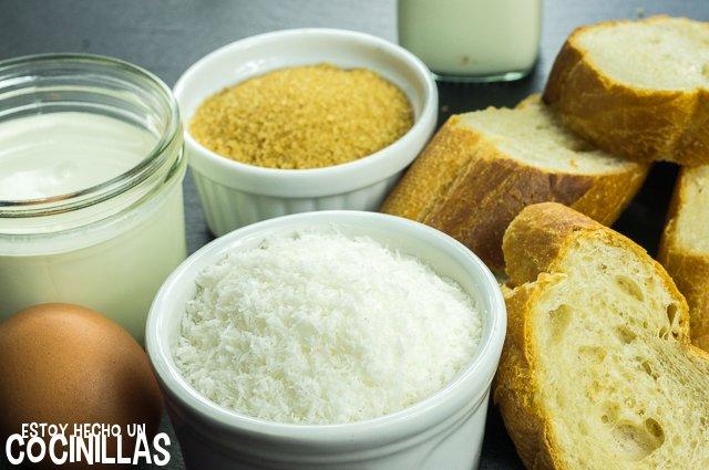 Torrijas con leche de coco (ingredientes)