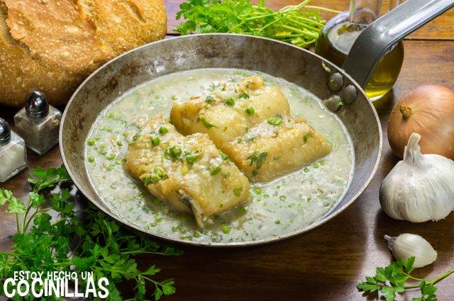 Bacalao en salsa verde (sartén)