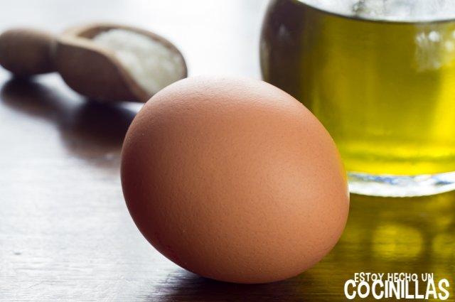 Huevo frito en microondas (ingredientes)
