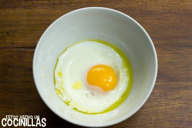 Huevo frito en microondas (resultado)