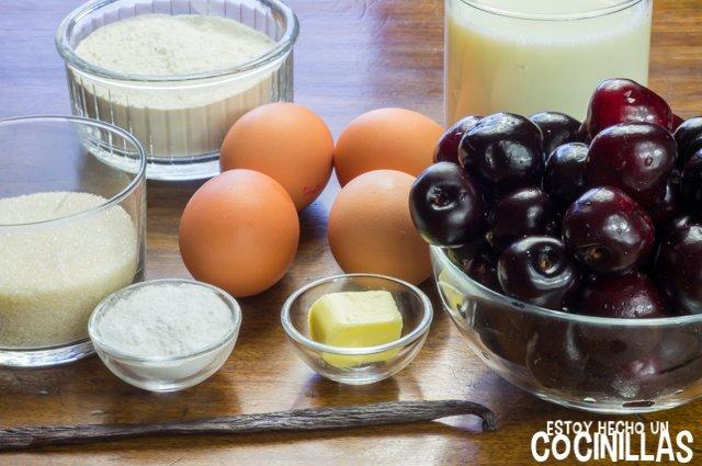 Clafoutis de picotas (ingredientes)