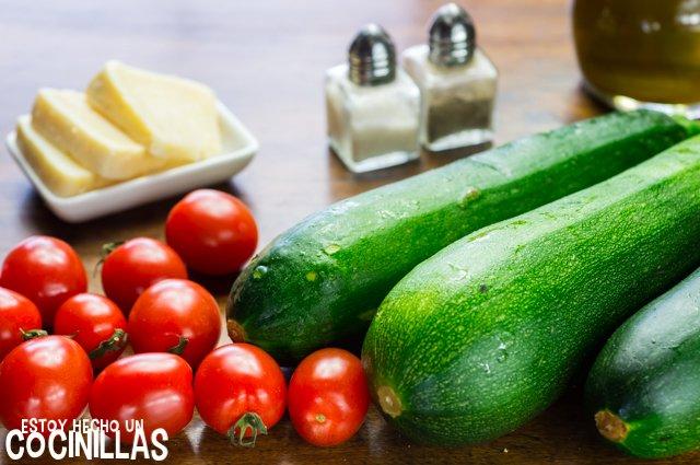 Calabacines a la plancha (ingredientes)