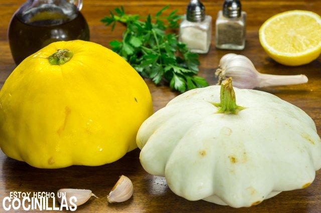 Calabaza bonetera rehogada (ingredientes)