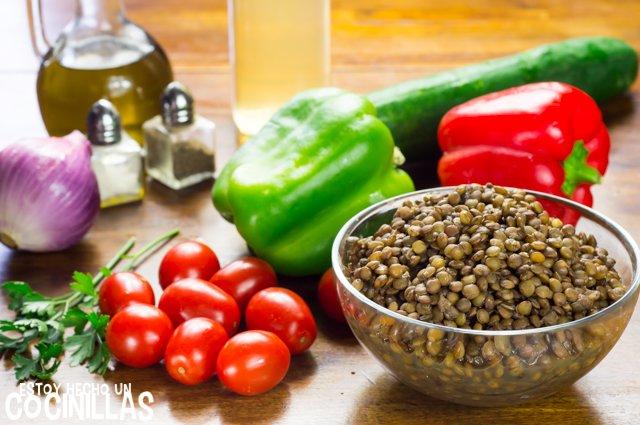 Ensalada de lentejas (ingredientes)