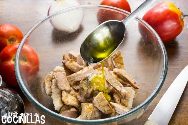 Escarapuche de carne (aceite y vinagre)