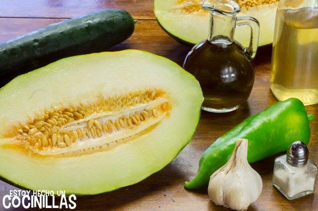 Garpzacho de melón (ingredientes)