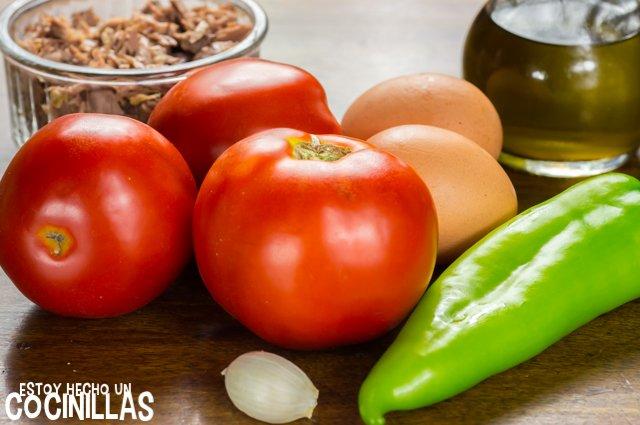 Pipirrana de Jaén (ingredientes)