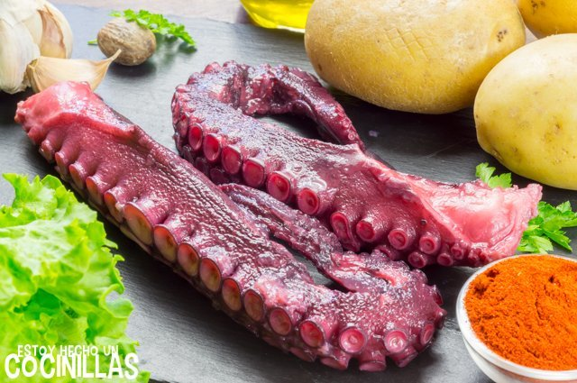 Pulpo a la plancha (ingredientes)