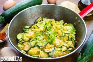 Revuelto de calabacín con patatas