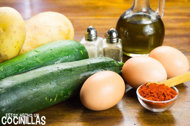 Revuelto de calabacín con patatas (ingredientes)