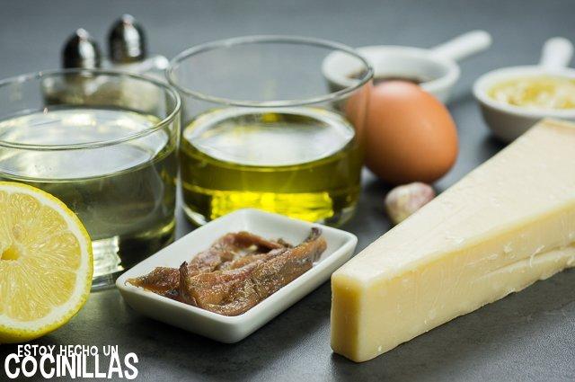 Salsa César casera (ingredientes)