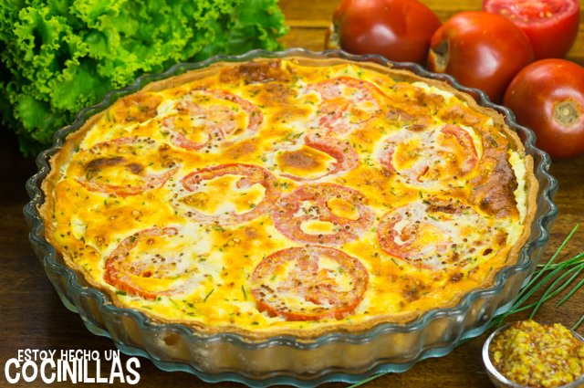Tarta de atún, tomate y mostaza (reposo)