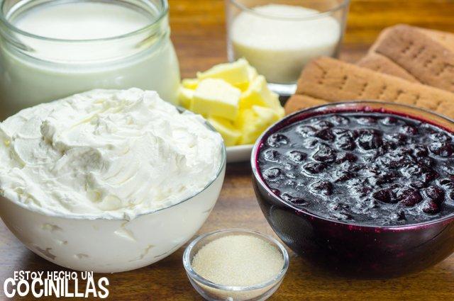 Tarta de queso sin horno (ingredientes)
