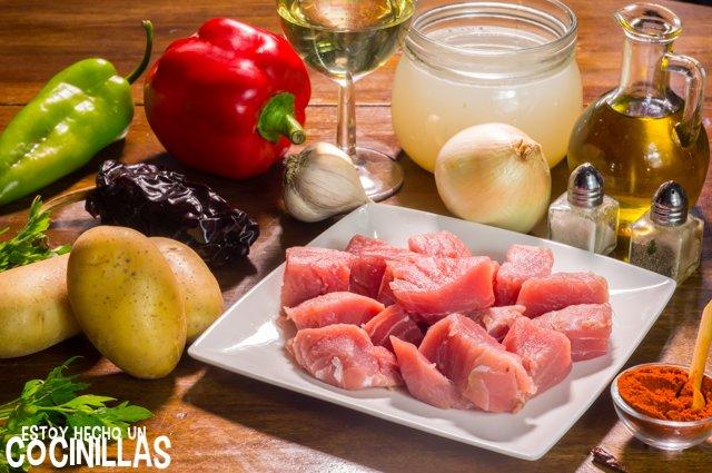 Marmitako de atún (ingredientes)