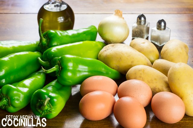 Pimientos rellenos de tortilla (ingredientes)