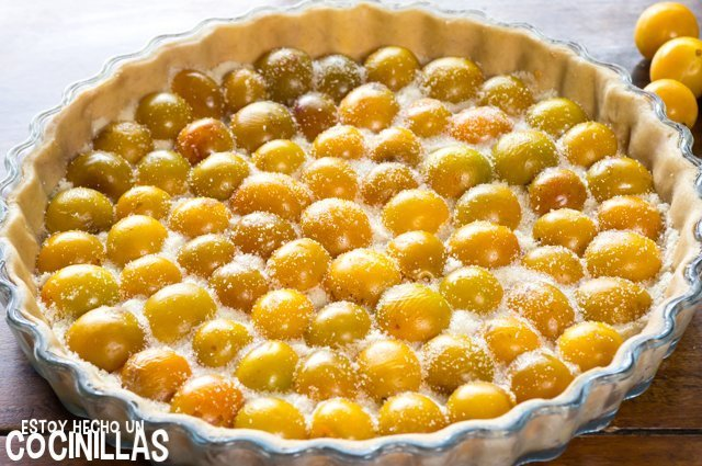 Tarta de mirabeles (azúcar)