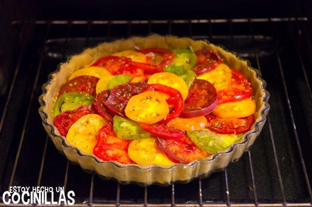 Tarta de tomates de colores (horno)
