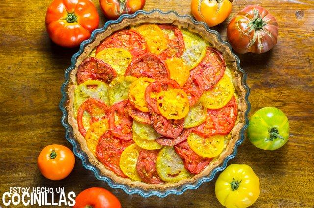 Tarta de tomates de colores (receta)