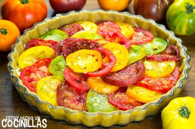 Tarta de tomates de colores (relleno)