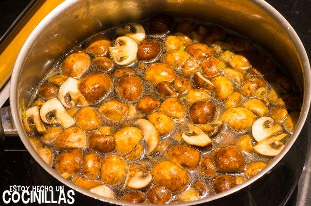 Crema de champiñones (cocer)