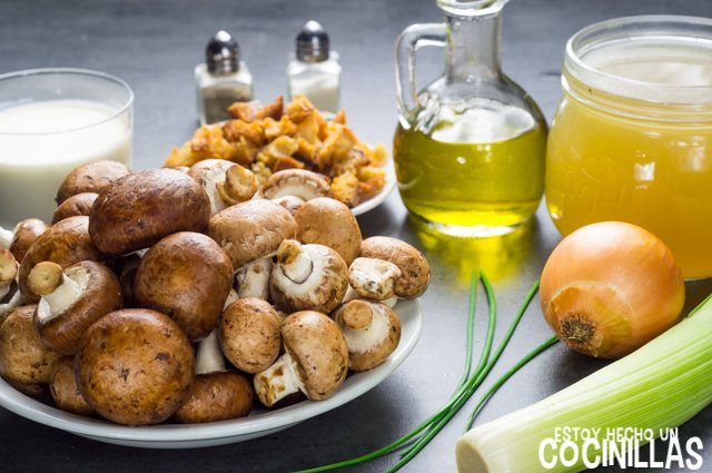 Crema de champiñones (ingredientes)