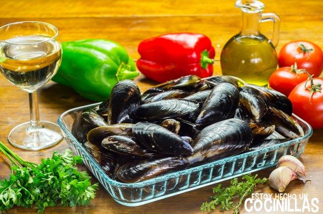 Mejillones a la provenzal (ingredientes)
