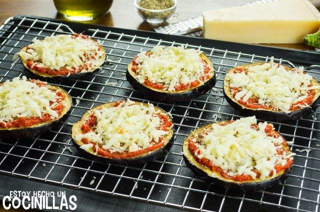 Pizza de beernjena (mozzarella)