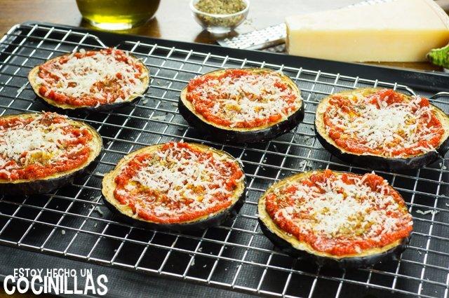 Pizza de beernjena (orégano y parmesano)