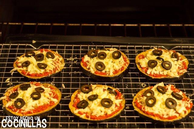 Pizza de beernjena (segundo horneado)