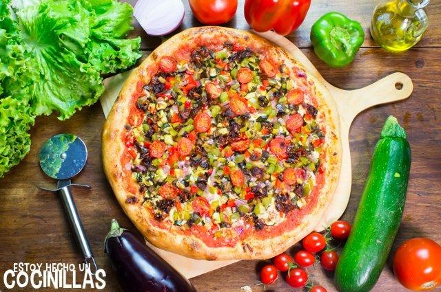 Pizza de verduras (receta)