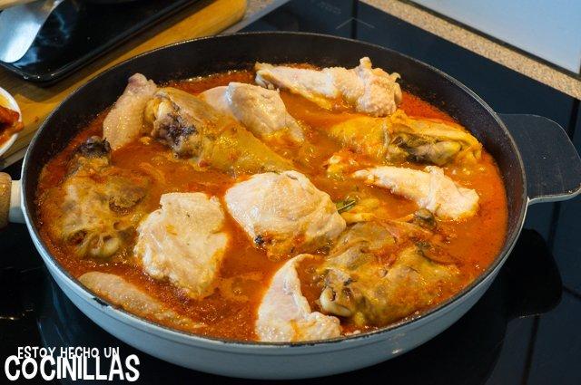 Pollo a la riojana (añadir pollo)