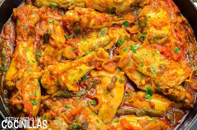 Pollo a la riojana (receta)