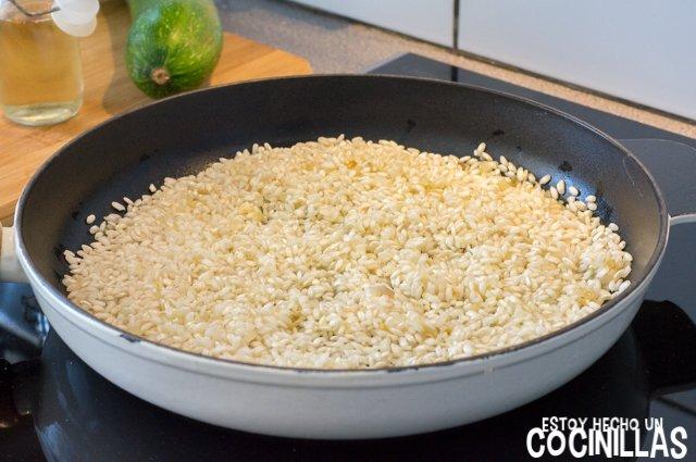 Risotto de calabacín (arroz)