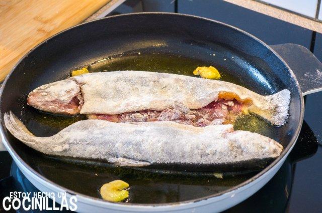 Trucha a la navarra (freír)