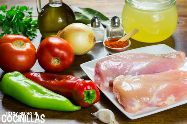 Pechuga de pollo en salsa (ingredientes)