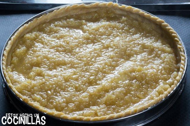 Tarta de manzana con masa quebrada (compota)
