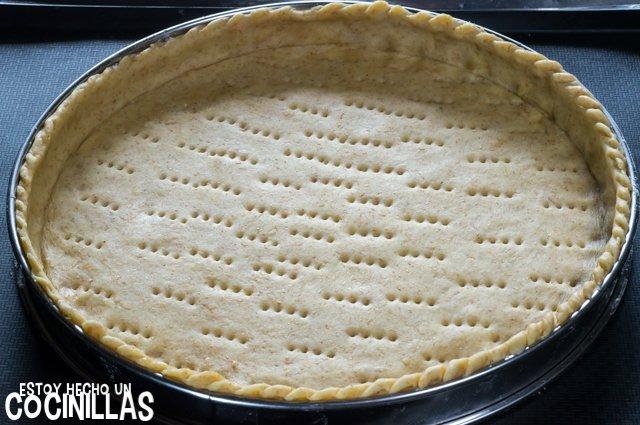 Tarta de manzana con masa quebrada (forrar el molde)