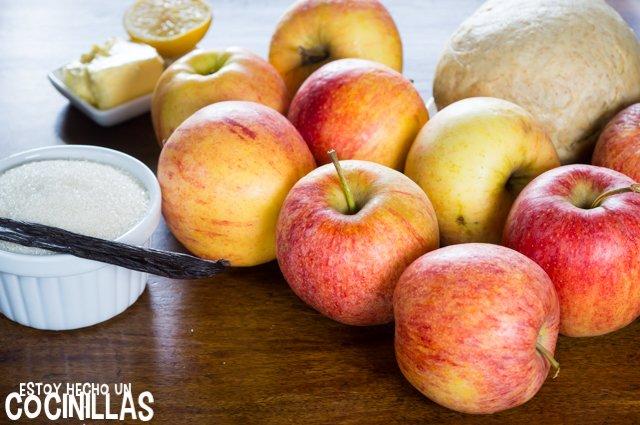 Tarta de manzana con masa quebrada (ingredientes)
