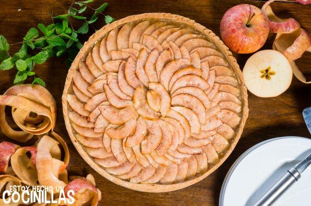 Tarta de manzana con masa quebrada (receta)