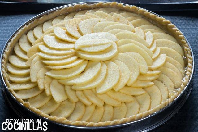 Tarta de manzana con masa quebrada (relleno)