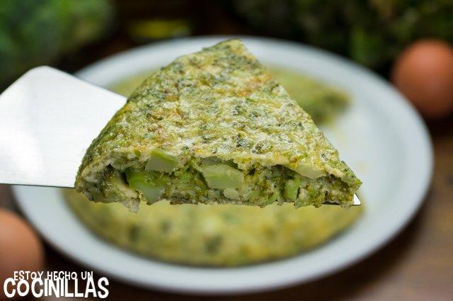 Tortilla de brócoli (corte)