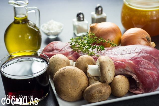 Solomillo de cerdo al Oporto (ingredientes)