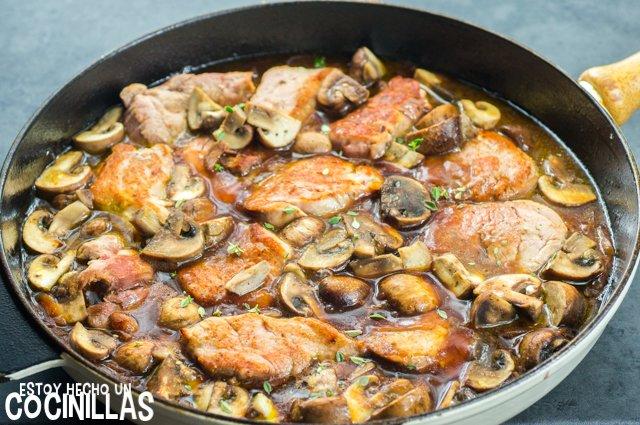 Solomillo de cerdo al Oporto (sartén)