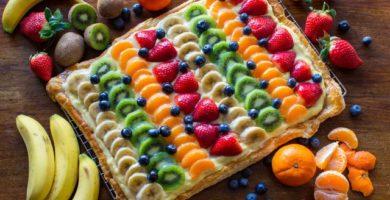 Hojaldre de fruta y crema pastelera