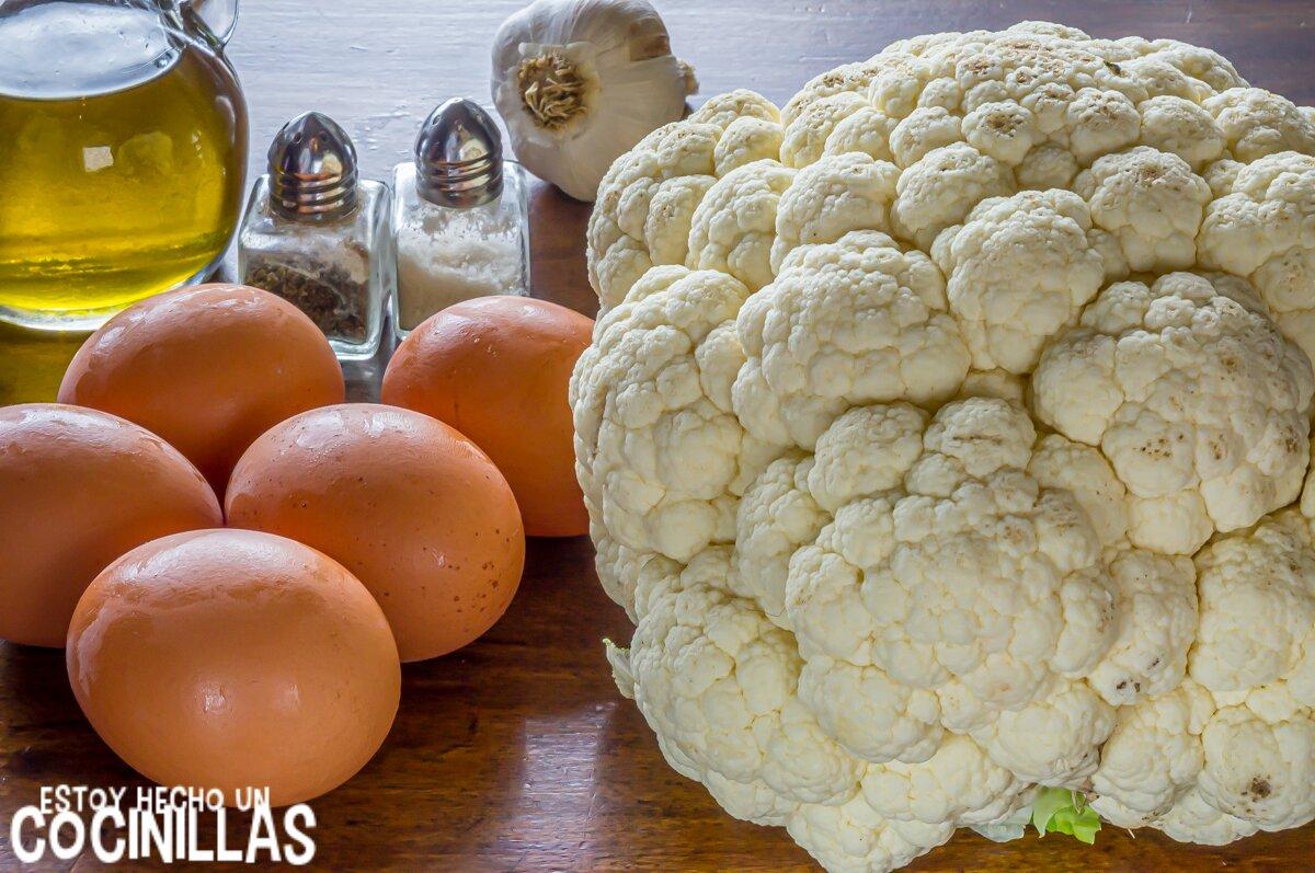 Tortilla de coliflor (ingredientes)