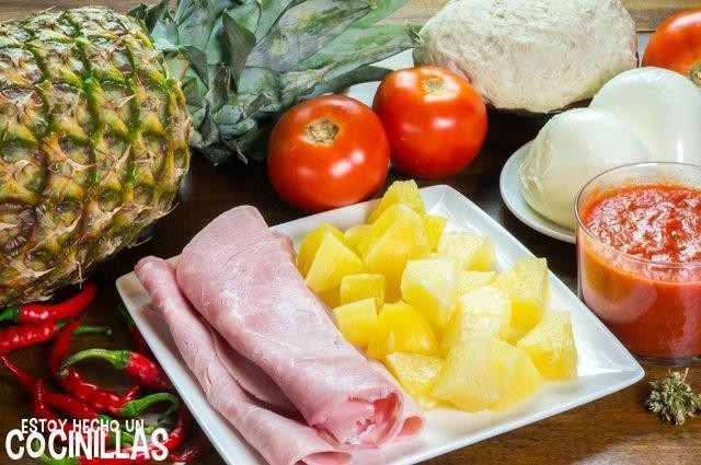 Ingredientes que lleva la pizza hawaiana