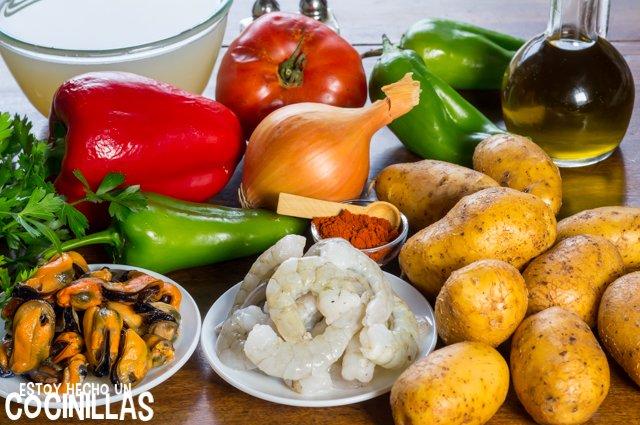 Patatas a la marinera (ingredientes)