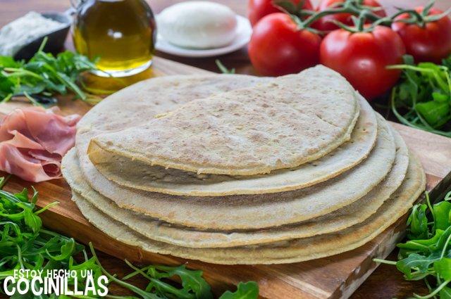 Piadina italiana (pan plano sin horno y sin levadura)